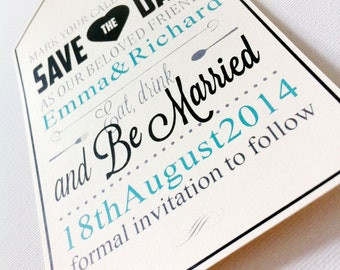 Save the Date - Wedding Day Announcement Tag Style - Save The Dates Cards