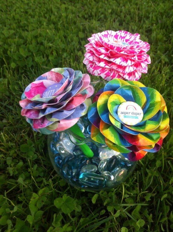 Items similar to reusable pen topper duct tape flower with button