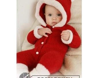 Christmas Baby Jumpsuit - Baby overall Christmas - Merino wool