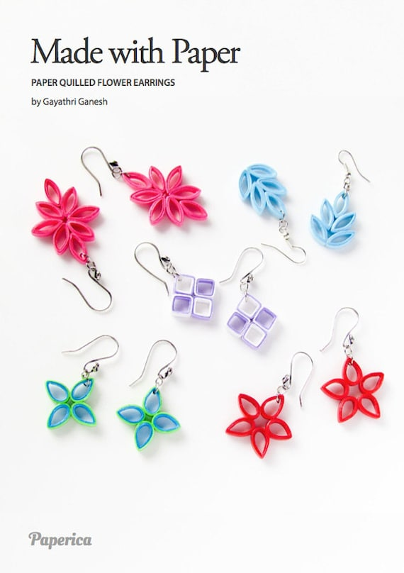 Diy paper quilling jewelry tutorial paper quilled flower for How to make your own quilling paper