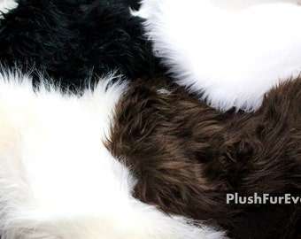Remnants Faux Fur Leftover small pieces remain for Arts crafts projects 1 lbs assorted or one color