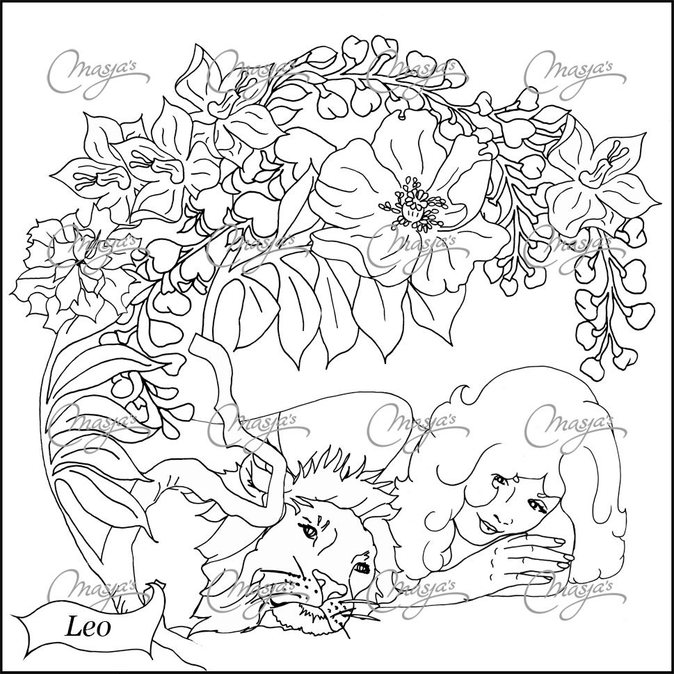 astrological signs coloring pages - photo#39
