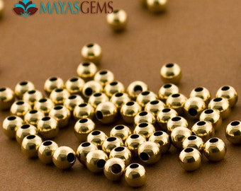 500pc, 4mm Gold Filled Beads, Seamless Beads, 4mm Beads, Small Goldfilled Beads, 14kt Gold Filled, Made in USA 14/20 14kt, Wholesale Bulk