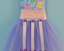 Purple Butterfly Tutu Bow Holder