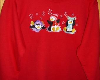 Playful Penguins sweatshirt