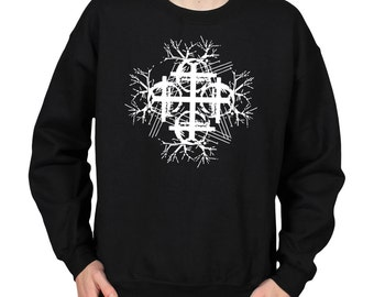 Trees and Telephone Wires Symbol Crew Neck Sweater Sweatshirt