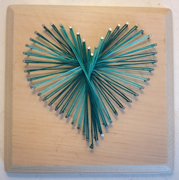 Items Similar To Nail String Art Heart On Etsy