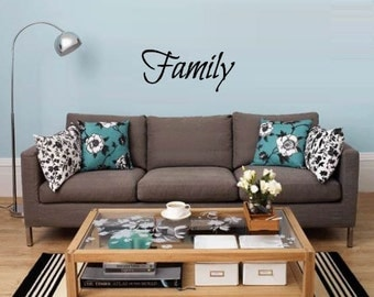 Family Decal in many sizes and colors - Family Wall Decal - Family Decor - Family Decal Sticker - Family Room Decal - Family Decorations