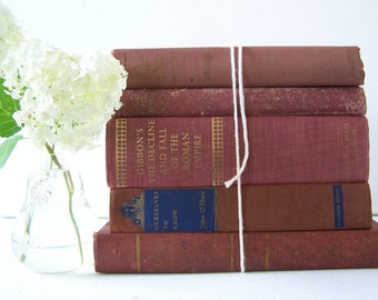 Gorgeous Red Vintage Book Collection FREE SHIPPING