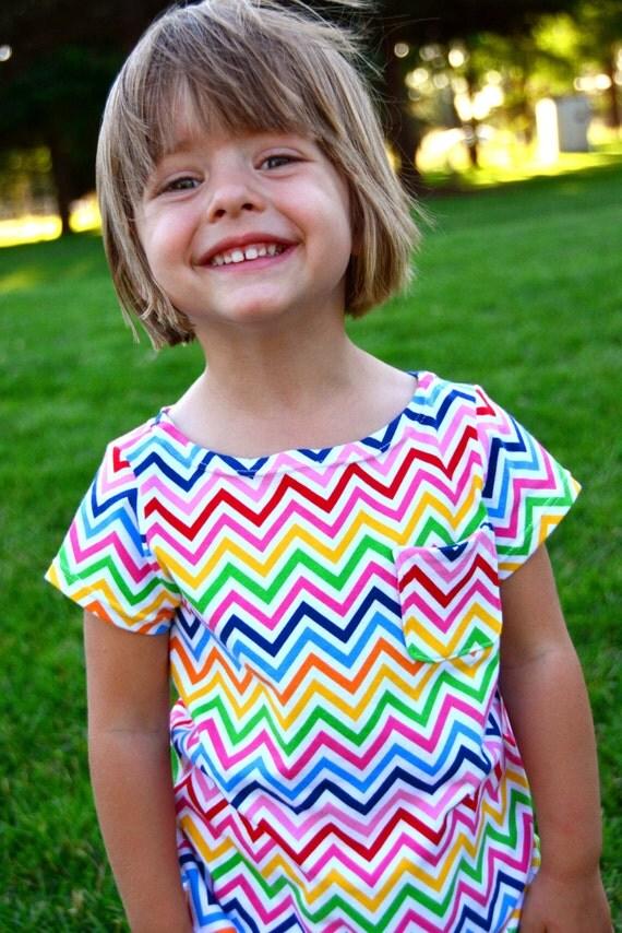 Girl's Dress Pattern: Bateau Neck Dress Sewing Pattern EXTENSION in sizes 18m to 10 (PDF Digital Pattern)