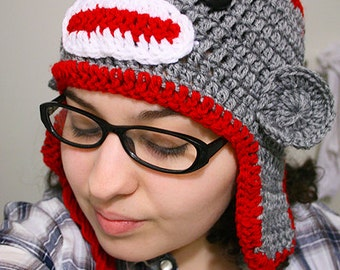 Sock Monkey Hat (Adult size)