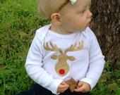 Christmas Reindeer Bodysuit or toddle tee