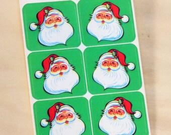 SALE 25% OFF CIJ Vintage Dennison Santa Seals One Sheet