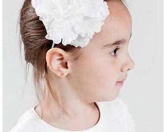 White Flower with White Headband