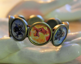 Skylanders Swap Force adjustable bracelet in antique bronze - colorful!
