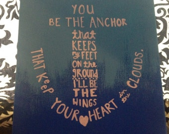 You Be The Anchor Hand-Painted Canvas