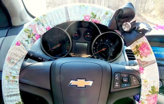 steering wheel cover paris france shabby chic romantic car. Black Bedroom Furniture Sets. Home Design Ideas