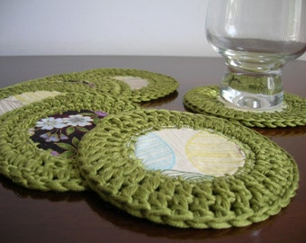 Green 2 in 1 coasters