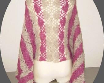 special offer, 20% off, silk alpaca shawl, crochetted