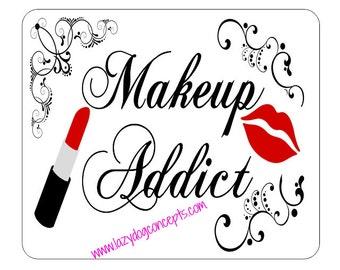 Customizable Makeup Addict Mousepad - Makeup Computer Accessory