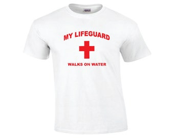 CHRISTIAN LIFEGUARD T-SHIRT - Jesus Christ - Brand New T-shirt With Lifeguard Image - Mens or Womens Standard Sizes s, m, l, xl, 2x, 3x