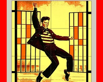 Elvis Presley THE King jailhouse rock Colorful  Poster print art  HH10500 S38