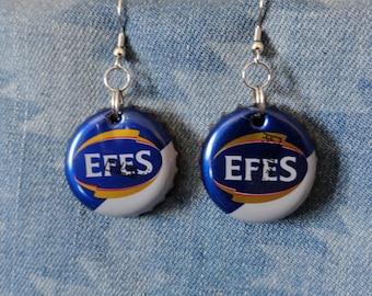 Turkish Efes Bottle Cap Earrings