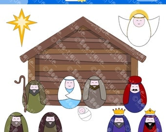 Nativity Digital Clipart. Nativity Clip Art for Instant download. Xmas Clipart. Christmas Clip Art. Nativity Clipart. Christmas Clipart.