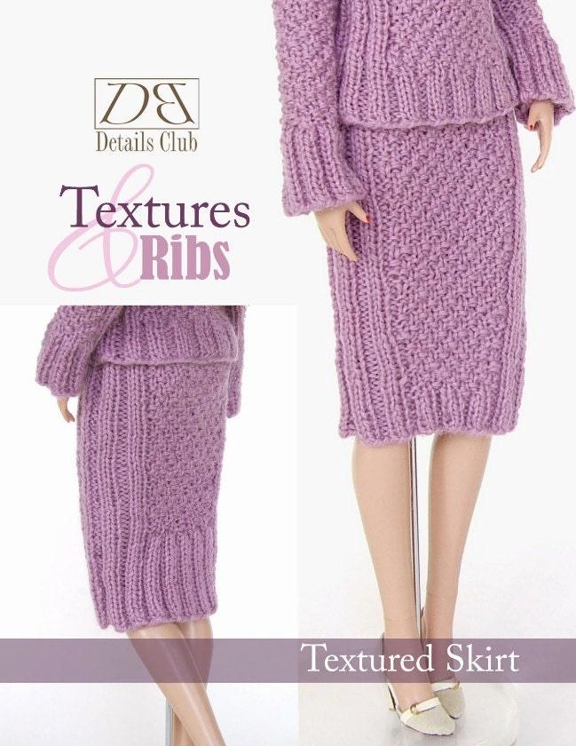 Knitting Pattern For Dolls Skirt : Knitting pattern for 16 doll Tyler Wentworth: Textured