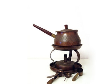 Vintage Copper Fondue Pot.