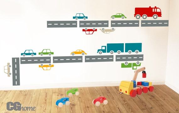 CARS living streets cars wall DECAL vinyl sticker architecture CGhome