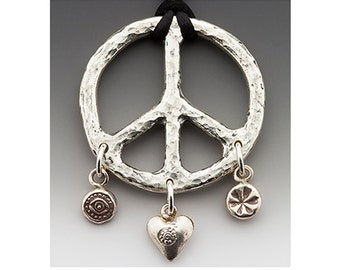 Peace On Earth - sterling silver and Hill Tribe Thai silver.