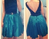 Upcycled Vintage Backless Green Dress