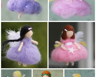 Custom made needle felted fairy, Waldorf fairy, One of a kind