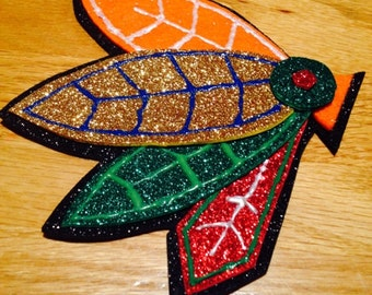Sparkly Chicago Blackhawks Feather Headband