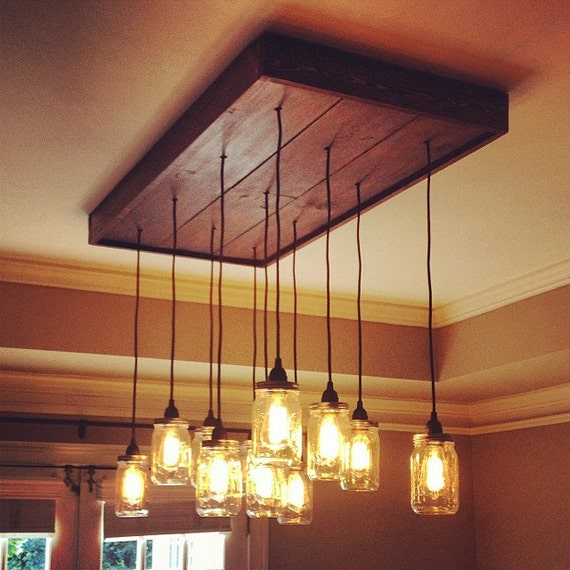 Edison Bulb Chandelier Mason Jar Lighting Mason By: Unavailable Listing On Etsy