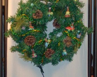 Easter/Christmas Wreath with lights