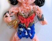 Handmade Wonder Woman Figure, can be used as a keychain, backpack zipper pull, toy etc.