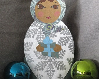 Paper matryoshka tree-topper