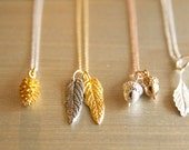 Woodlands Necklaces Handmade by BareandMe on Etsy, Dainty Everyday Acorn Necklaces, Natural Leaf Necklaces Made By BareandMe on Etsy