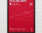 Ole Gunnar Solskjaer vs Bayern Munich Giclee Print