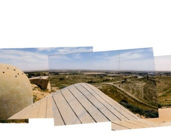 A unique 360 degrees view on the Negev Brigade monument, Beer-Sheva, featuring most of the elements and twice the tower