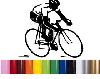 Cyclist Decal Etsy - Cycling custom vinyl decals for car