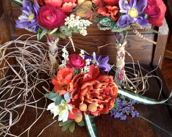 September Garden Bridal Party Bouquets and Boutonnieres