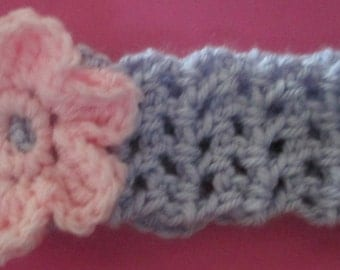 Headband with flower or heart attached