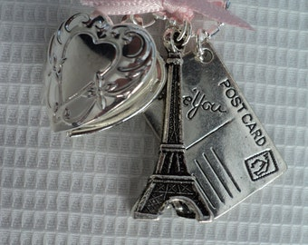 Paris themed Charmed Necklace