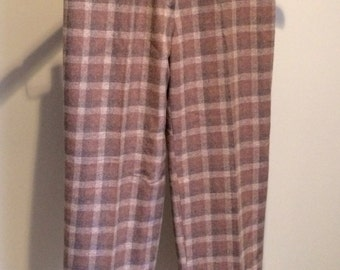 Made in France Vintage Plaid Pants 50's or 60's