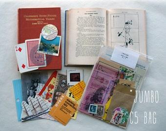 Jumbo Instant Collage Kit- lucky dip vintage ephemera Scrapbooking / Decoupage / Mail Art