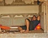 Antique wooden carved royal day bed,post bed,Home Decor,statement bed,teak bed