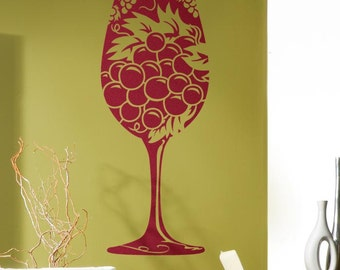 Wine Glass Wall Decal